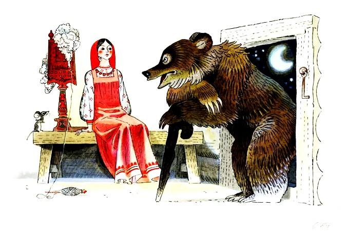 Рисунок - Дочь и падчерица — русская народная сказка